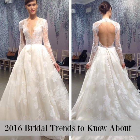 What are the latest bridal trends for 2016?